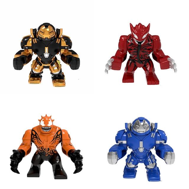 מארוול DC סופר גיבורי ארס וולברין איש ברזל Mech רובוט דמויות דגם אבני בניין צעצועים לילדים מתנות