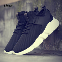 2018 New Simple Men Running Shoes Summer Autumn Breathable Mesh Boy Red Sneakers Male Outdoor Sport Light Trainers jogging shoes