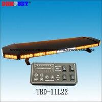 TBD 11L22 super bright 1.2M Amber LED lightbar, engineering/emergency DC12V/24V Car Roof Strobe Warning lightbar,black aluminum