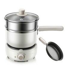 220 V 500 w 1.2L белая многофункциональная электрическая плита 304 горячий горшок из нержавеющей стали антисухое электрическое сковорода