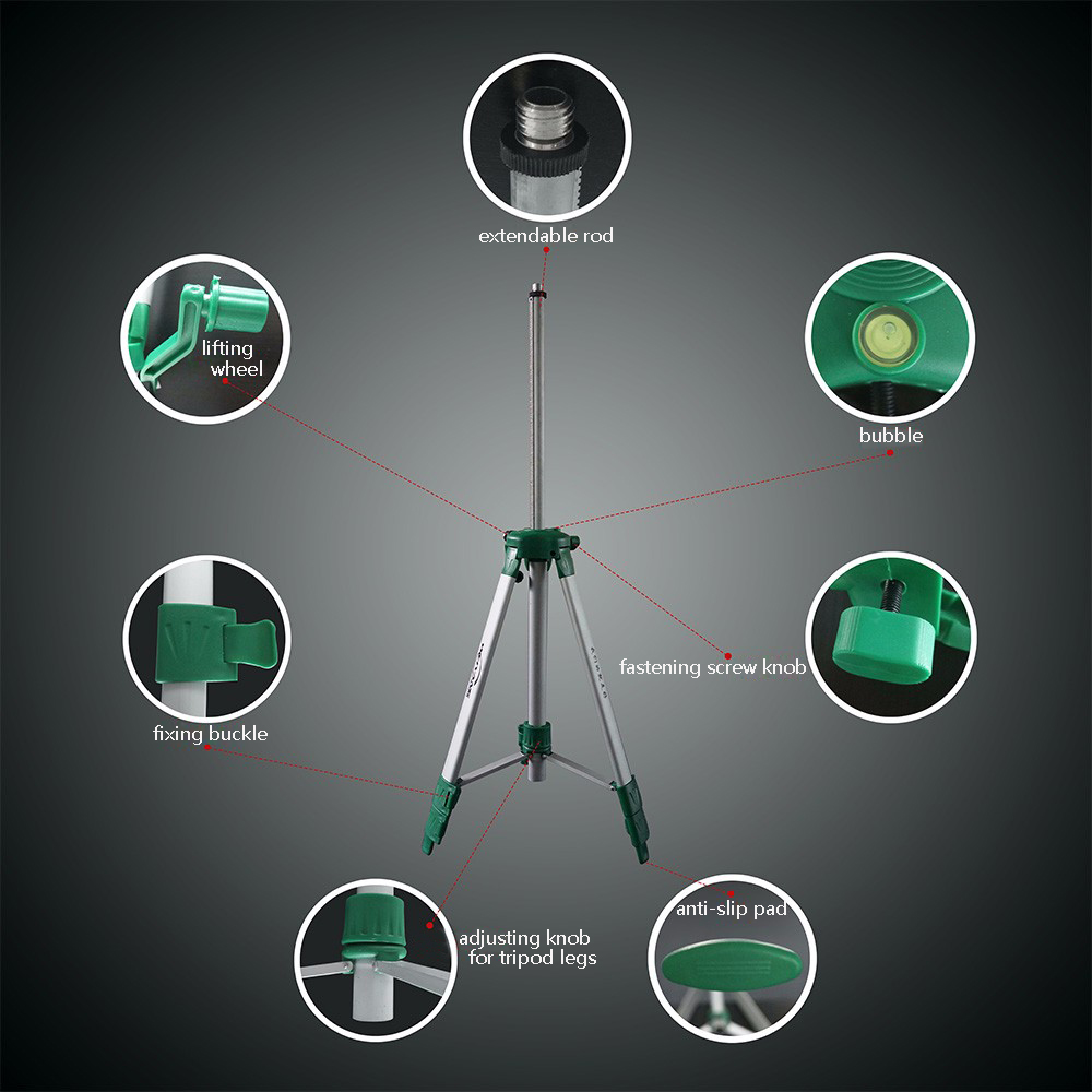 Mtian, лазерный нивелир 5 линий 6 точек наклона Функция 360 Ротари Self Lleveling Крест лазерной линии выравнивания открытая модель инструменты