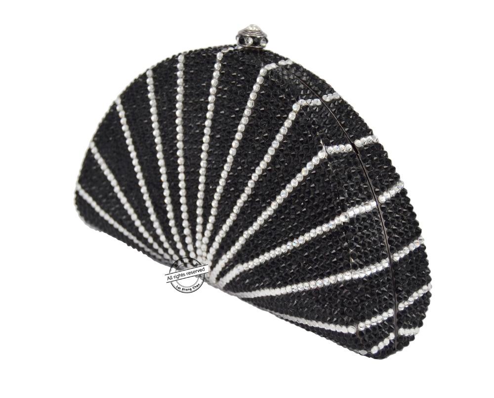 Mariage White Shell Diamant Soirée Clutches Black Laisc Noir Sc90 Cristal Parti Luxe Pochette Scintillant De Sac Embrayage Blanc Sacs D'embrayage En Dur Tv5qR