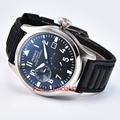 New Arrival 43mm Men Watch Parnis Watches SeaGull 2530 Automatic Movement Power Reserve