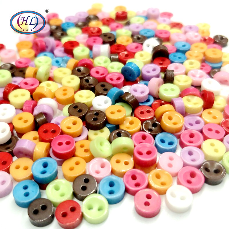 Knopf Bouton 50 Pcs Random Mixed Round 2 Holes Resin Sewing Buttons 23 mm Dia