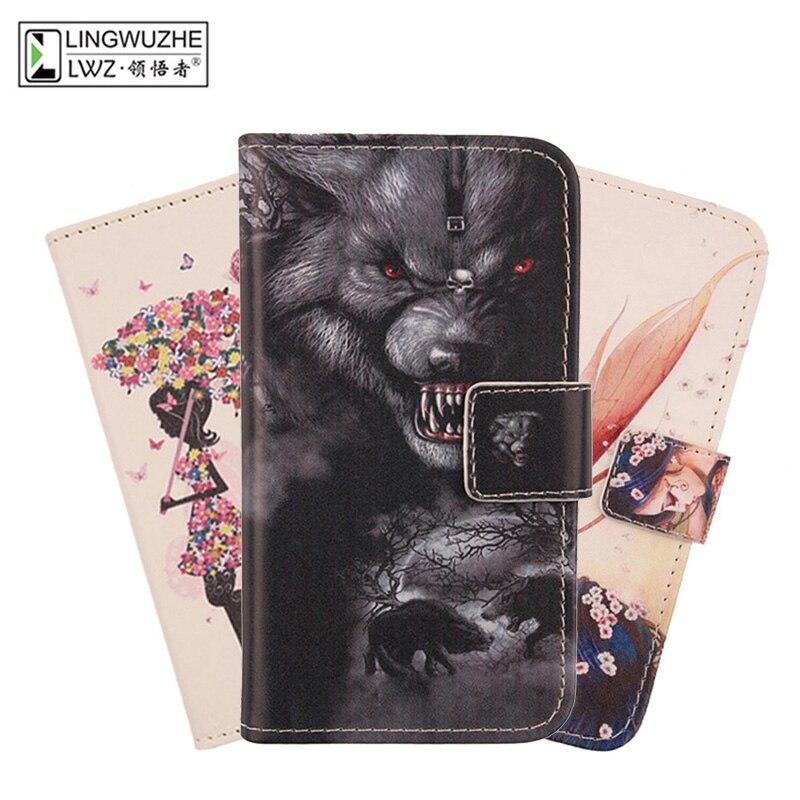 Чехол для Fly IQ4413 EVO Chic 3 Quad кошелек Книга Стиль откидной Чехол чехол для телефона из искусственной кожи Funda