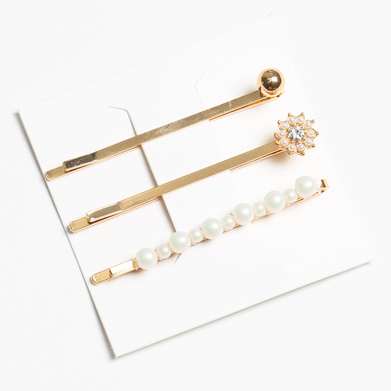 Simple Daily Small Pearl Flower Circle Gemstone Head Clip Gorgeous Women Glitter Hair Accessories Elegant Girl Barrette in Women 39 s Hair Accessories from Apparel Accessories
