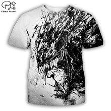 PLstar Cosmos t shirts summer mens/womens t-shirt hip hop top tees boy Venom 3D printed plus size XS-7XL