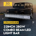 22Inch 280W 5D ForOsram LED Work Light Bar Truck SUV ATV 4WD Pick-up Headlights Off-road Driving  Spot Flood Combo Lamp Car Lamp