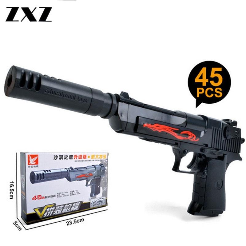 ZXZ Guns Desert Eagle Pistol Soft Bullet Toy Gunplay Game Interesting Toy For Children Airgun Rifle
