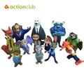 12 unids/set Zootopia Modelos de Dibujos Animados Figura de Acción de Utopía Bebé Juguetes Nick Fox Y Judy Conejo Muñecas Juguetes Regalos De Colección