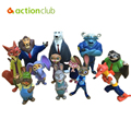 12pcs/set Zootopia Models Cartoon Action Figure Utopia Baby Toys Nick Fox And Judy Rabbit Dolls Toys Collectible Gifts
