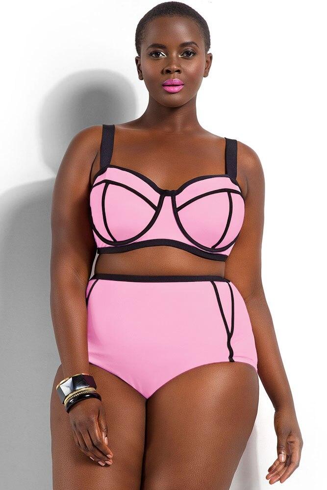 ФОТО Brazilian Maillot De Bain Femme Plus Size Bikini Swimwear XXXL XXXXL 3XL 4XL Lady Push Up Big Size Swimsuit Bathing Suits 41435