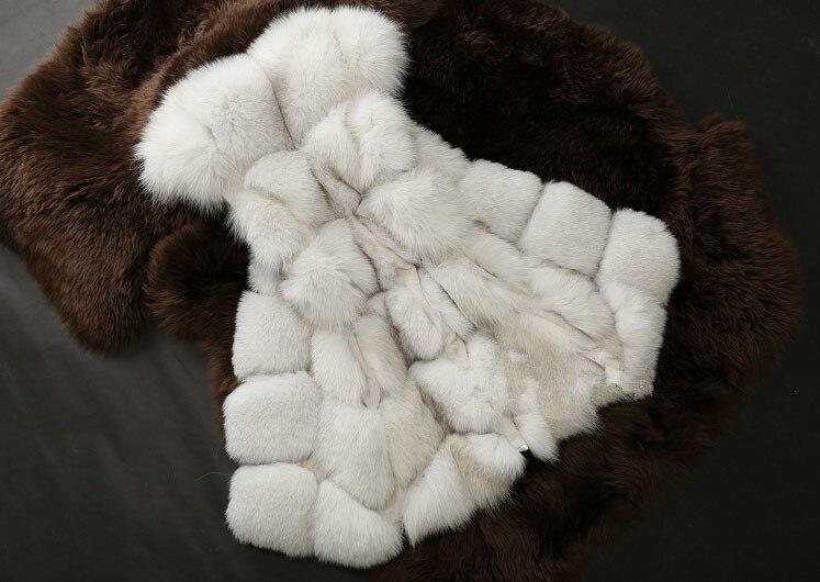 Новое поступление, зимний теплый модный длинный женский жилет из искусственного меха, пальто из искусственного меха, жилет из лисьего меха, женский жилет, большие размеры, S-4XL - Цвет: white