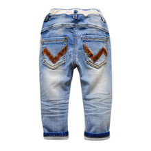 5960 BABY JEANS BOY JEANS smooth denim trousers spring autumn mild blue child boy denims Zero-Three years youngsters's clothes