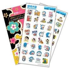 Doraemon Sticker Anime Stickers Waterproof Plastic Transparent Decal Toy Stiker For Phone Laptop Book