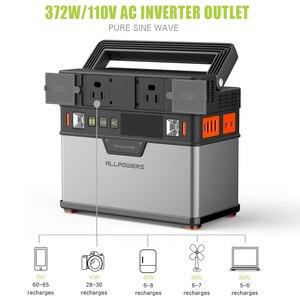 Image 3 - ALLPOWERS 110V 220V Power Bank Portable Power Station Lithium Portable Generator 372Wh Emergency Backup Power UPS Power
