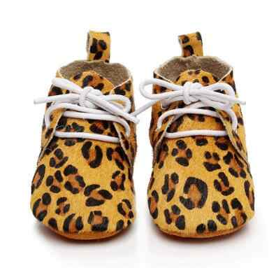 Handmade Cheetah horse hair Lace Up Genuine Leather Dot Suede soft sole shoes  baby Toddler Baby 9f648c5b775a