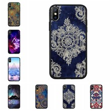 Zachte TPU Patroon Mandala Bosnië Matte Case Voor iPhone 6 6 S 7 8 Plus X XS Max XR Cover cute Cartoon Cover Voor iPhone 7 8 A00(China)