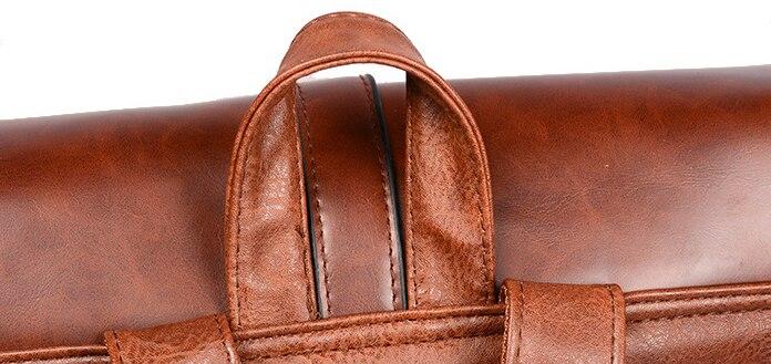 04 Sacs à dos Vintage en cuir PU