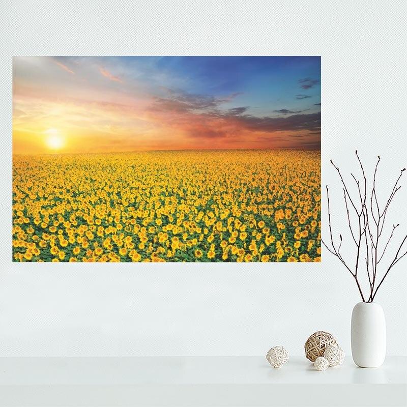 Custom sunflower Canvas Painting Poster Cloth Silk Fabric Wall Art ...