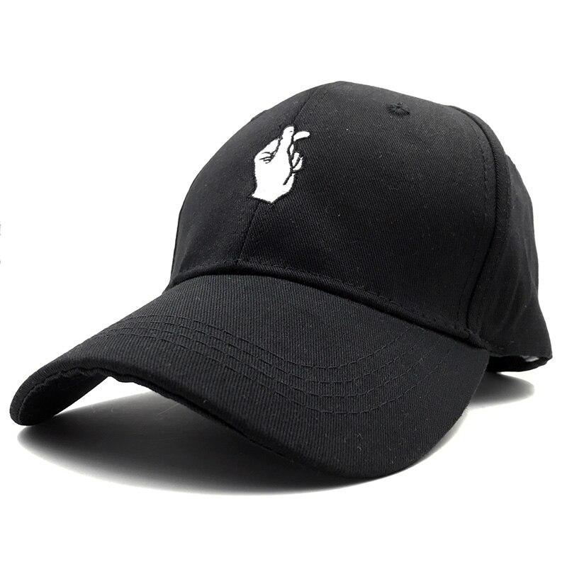 Las mujeres de moda sombrero de hip-hop del SnapBack amor gestos bordado  dedo gorra bone casquette femenino casquillo de las mujeres 2016 a30a5749610