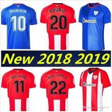 Nuevo 18 19 Athletic de Bilbao Jersey 2018 2019 rojo blanco de mejor calidad  Aduriz Williams camisetas de fútbol 04bc12f987b16