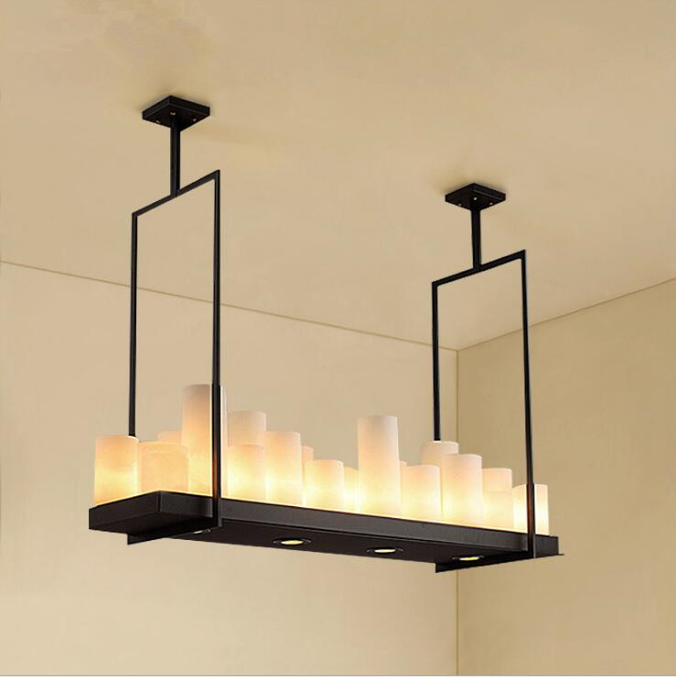 Rectangular Wrought Iron Chandelier Pictures Of Dining: Rectangular Vintage Candlestick Chandelier Black Wrought