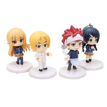 4 Figuras de Shokugeki No Soma (5cm) Shokugeki No Soma