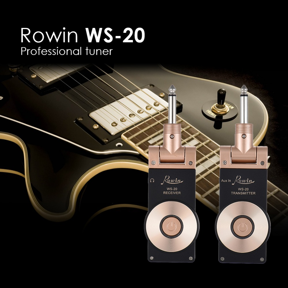 WS 20 2.4G Wireless Guitar Transmitter System Rechargeable Electric Guitar Transmitter Receiver Set 30 Meters Transmission Range-in Electric Instrument Parts & Accessories from Sports & Entertainment    3