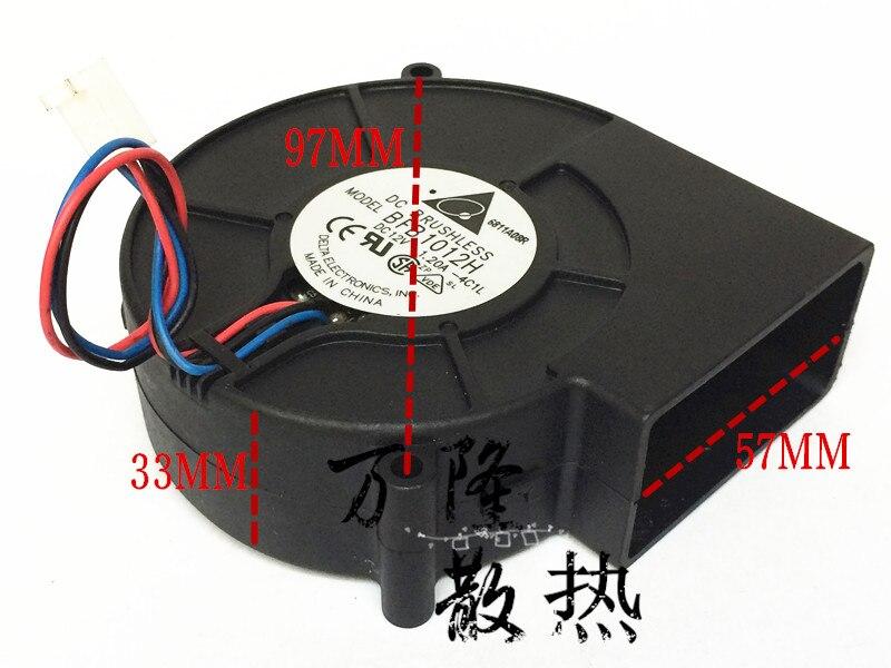Entrega gratuita. Ventilador centrífugo bfb1012h 9733 12 v 1.20 a do ventilador de ventilação especial do forno delta