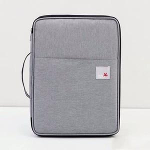 Image 5 - Đa chức năng Chống Nước A4 Lưu Trữ Tài Liệu Túi Bàn Fille Thư Mục Người Tổ Chức Ốp Lưng Laptop Công Sở Dây Kéo Túi Dành Cho Nam Nữ