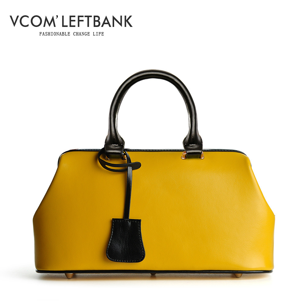 Vintage Fashion Classic Doctor bag Genuine leather bag Brand designer women Totes High quality ladies Real