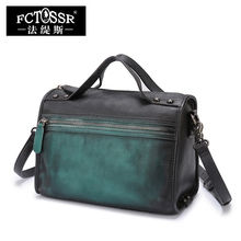 Small Messenger Bags Vintage Handmade Cowhide Hand Bags Women Shoulder Genuine Soft Leather  Crossbody Bags
