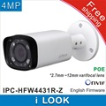 Free shipping Dahua IPC-HFW4431R-Z replace IPC-HFW4300R-Z 2.7mm ~12mm lens network camera 4MP IR ip camera POE cctv camera