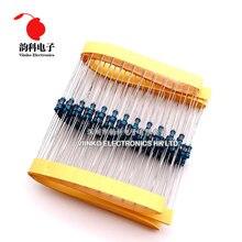 Resistor de filme metálico, 100 ohms 1/4w 680r 680 ohm 0.25w 1%