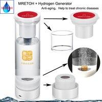 Gerador de Água e MRETOH H2 7.8Hz Dois em um Embutido cavidade excretar água ácido Cloro ozônio Hidrogênio copo/garrafa|Filtros de água| |  -