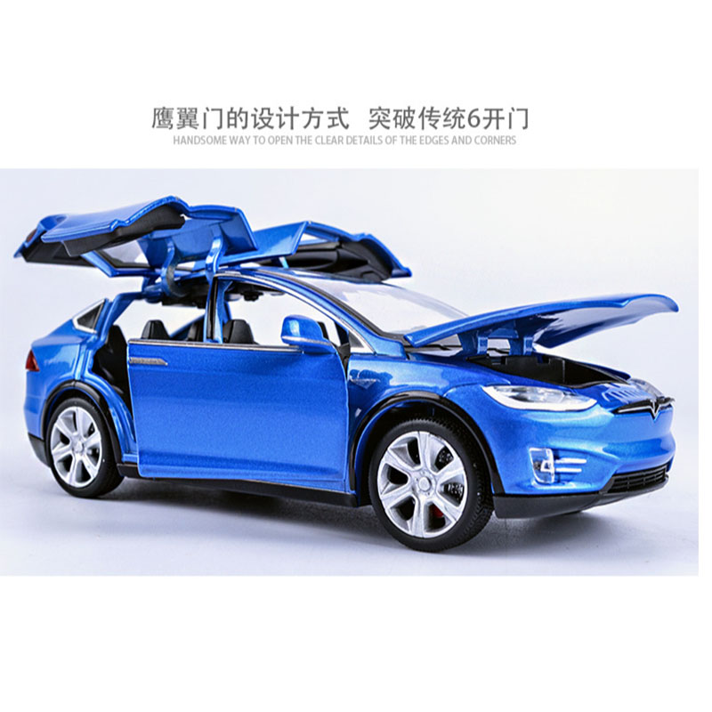 1 32 Alloy Tesla MODELX90 Metal Toy Car Bring Back Power Flash Children 39 s Racing Car Music Boys Gift in Diecasts amp Toy Vehicles from Toys amp Hobbies
