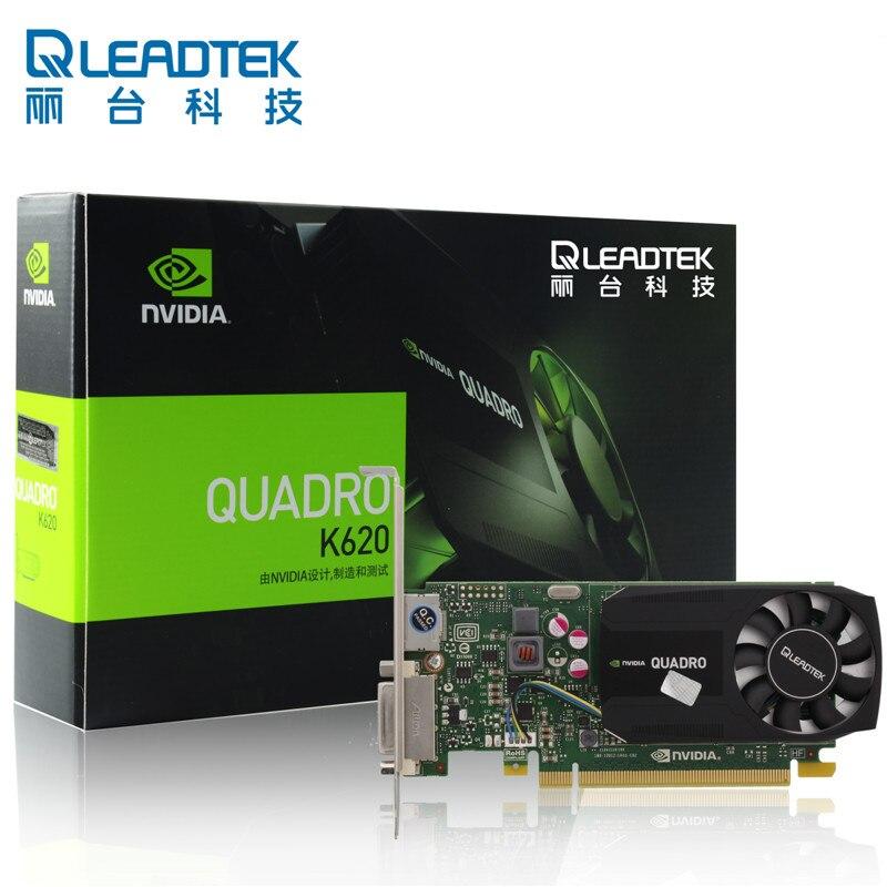 Leadtek Quadro K620 poste de travail graphique de conception professionnelle dessin carte graphique 2G nouvelle garantie originale de trois ans