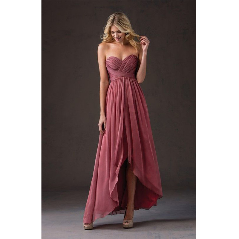 2019 Hi Lo Gown Bridesmaid Dresses Wedding Guest Dresses Sweetheart Off shoulder Weddibng Party Gown women