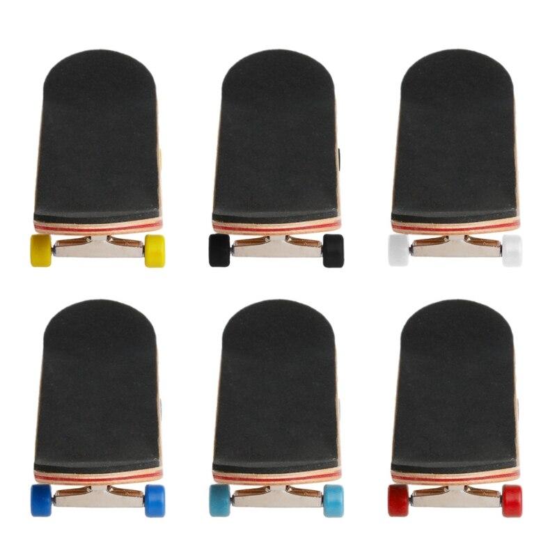1 Набор деревянный скейтборд с коробкой, Детская колода, спортивная игра, подарок клен, новинка, пальчиковая игрушка для взрослых детей, 6 цветов
