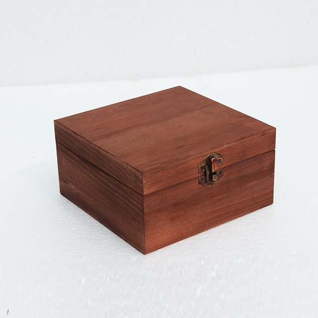 Square Sundry receive a case desktop rectangle retro solid wood box