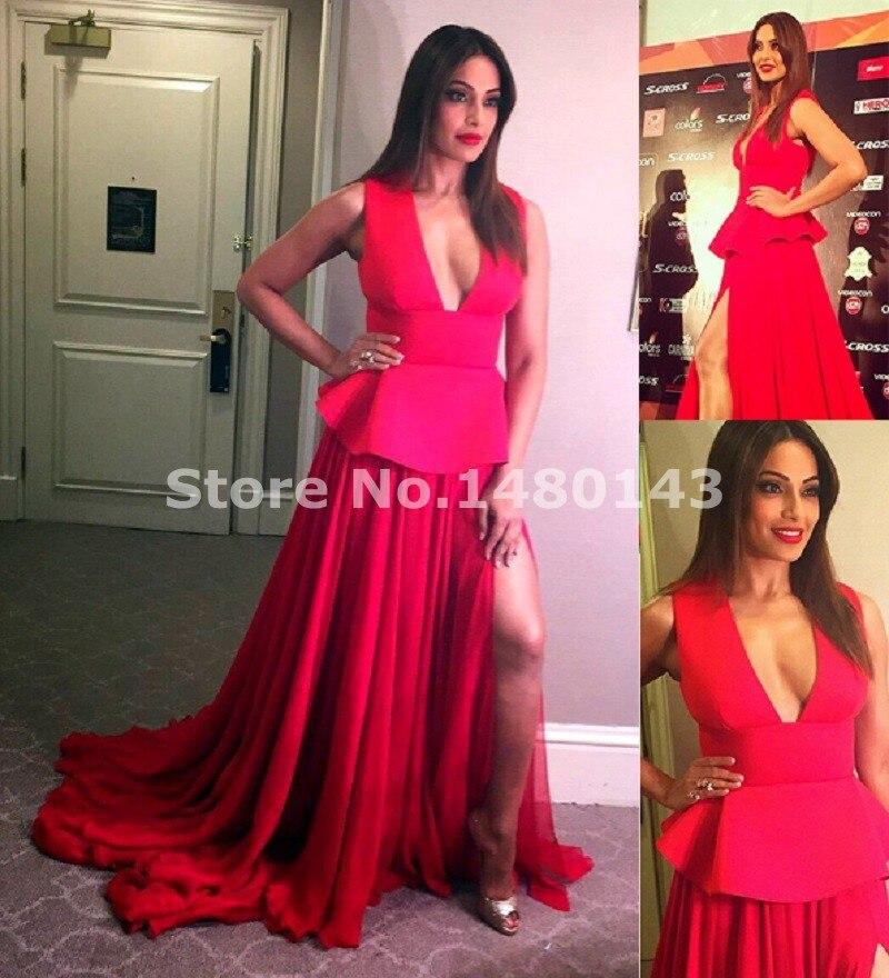 Traje Oriental soirée 2016 Red Dubai Vestido de noche Sexy hundiendo ...