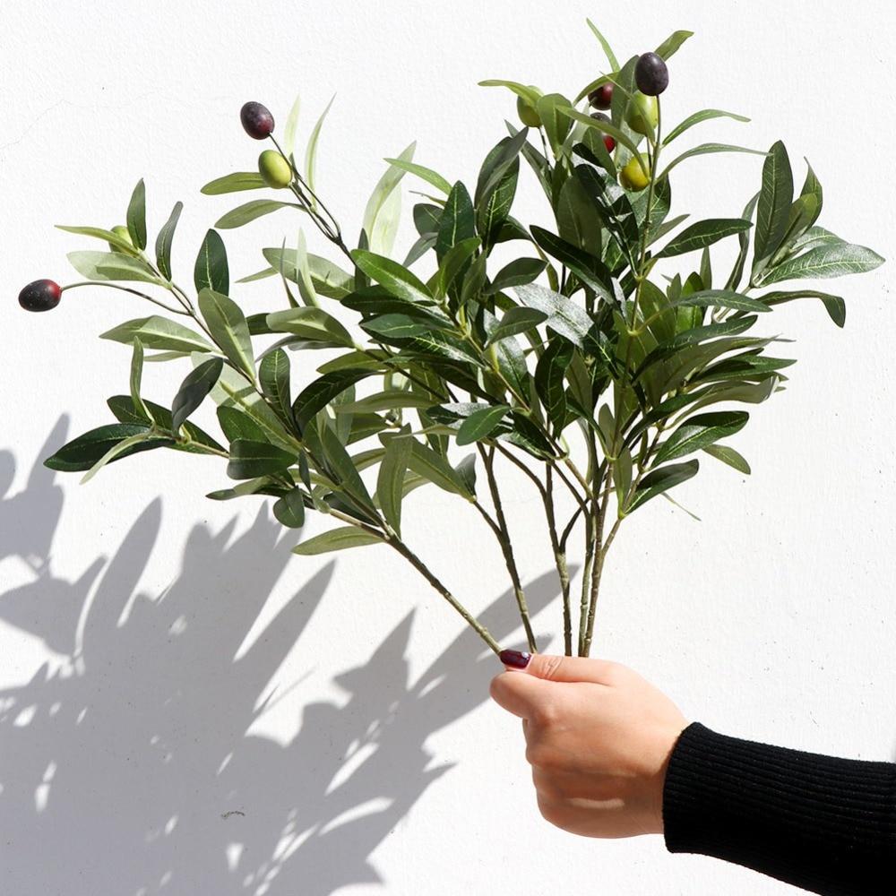 "28/"" Artificial Olive Plants Fruits Branch Leaves Home Nordic Good Plants Stem"