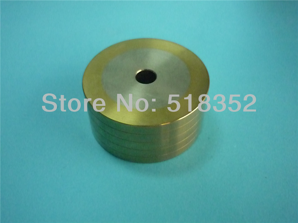 130003173(old: 449329) Charmilles C406 Right Pinch Roller with 4 Grooves Coated with Titanium for WEDM-LS Machine Parts130003173(old: 449329) Charmilles C406 Right Pinch Roller with 4 Grooves Coated with Titanium for WEDM-LS Machine Parts