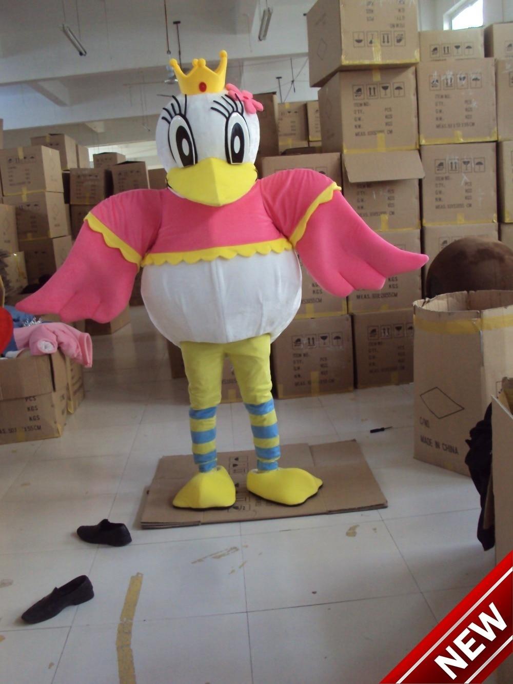 Costume de mascotte Adulte Costume de Personnage de mascotte Comme mode freeshipping cosplay canard reine