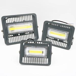 Image 2 - LED Schijnwerper 30W 50W 100W Outdoor Verlichting AC 220V Hoge Helderheid IP65 Waterdicht CE Voor Vierkante tuin Garage Schip vorm ES RU