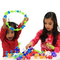 HEIßER! Pop Suckers Blöcke Spielzeug Weiche Silikon Bausteine Kinder DIY Modell Bau Spielzeug für Kinder Jungen Mädchen Weihnachten Geschenk