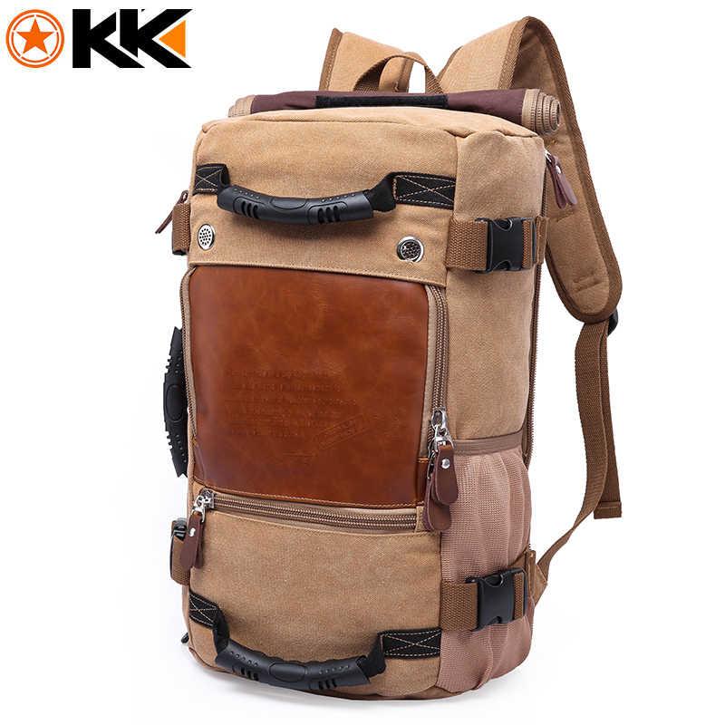 KAKA большой емкости функция туристический холщовый рюкзак мужской водонепроницаемый компьютер повседневные мужские и женские Рюкзаки вещевой сумки на плечо
