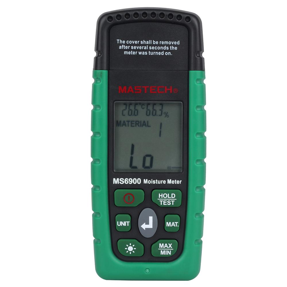 MASTECH MS6900 Portable Digital Timber Wood Moisture Meter LCD Hygrometer Temperature Humidity Meter Tester