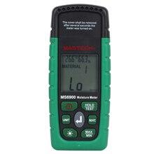MASTECH MS6900 портативный цифровой измеритель влажности древесины LCD гигрометр Измеритель температуры и влажности тестер